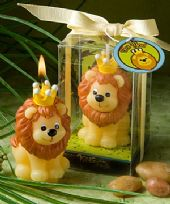Adorable King Of The Jungle Candle Favour
